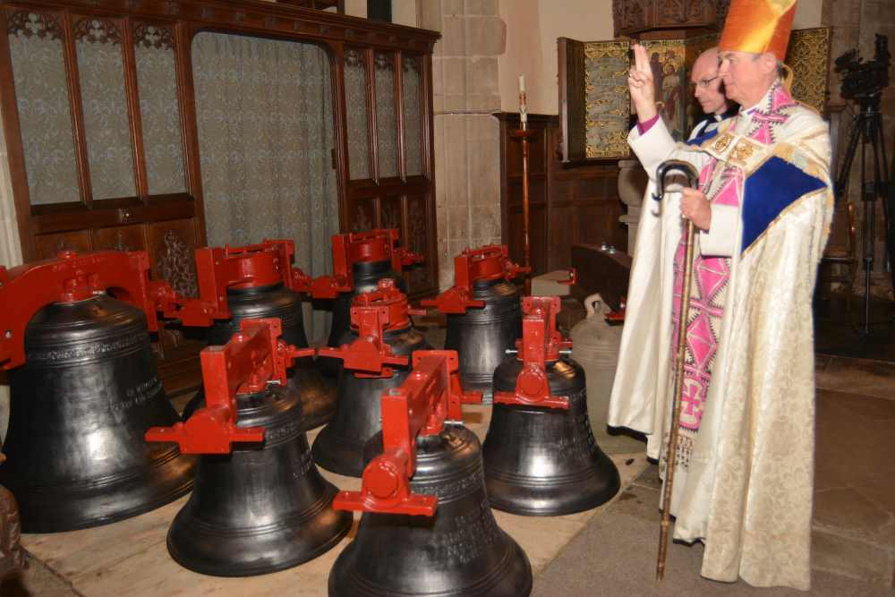Blessing the bells © Peter Bird